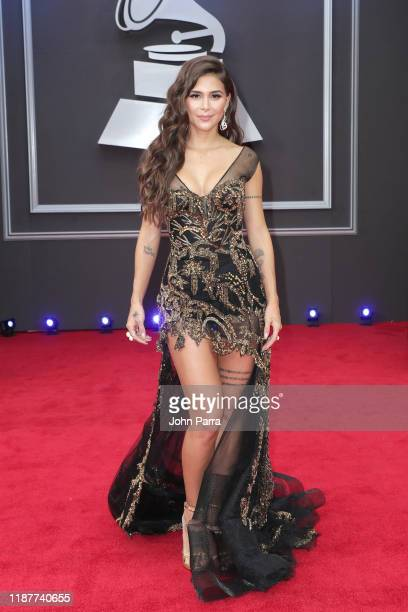 Greeicy Rendón attends the 20th annual Latin GRAMMY Awards at MGM Grand Garden Arena on November 14, 2019 in Las Vegas, Nevada.
