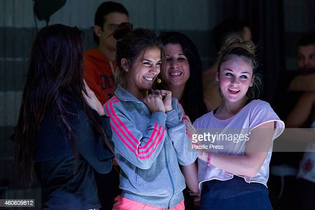 Greeicy Rendón Colombian actress and singer star of the soap opera for teenagers Chica Vampiro during practice for the Italian Chica Vampire Tour in...