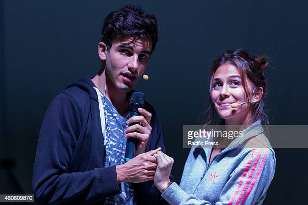 """Greeicy Rendón, Colombian actress and singer star of the soap opera for teenagers """"Chica Vampiro"""", during practice for the Italian """"Chica Vampire..."""