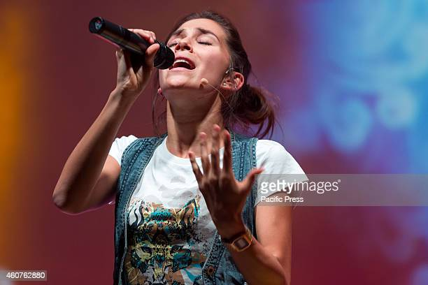 Greeicy Rendon as Daisy star of the telefilm for teenagers Chica Vampiro during the final rehearsal of the show which will begin Saturday December 20...