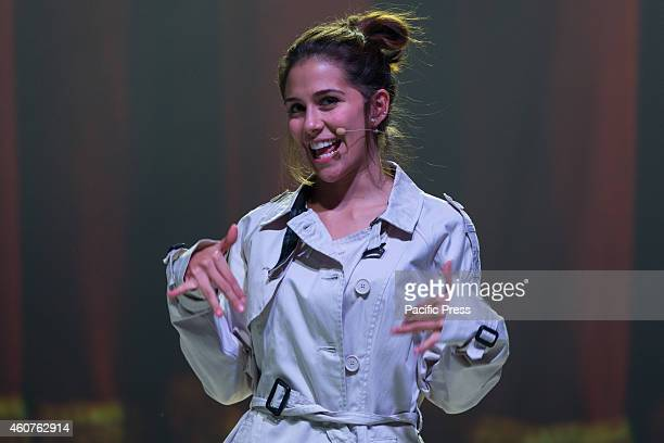 """Greeicy Rendon as Daisy, star of the telefilm for teenagers """"Chica Vampiro"""", during the final rehearsal of the show which will begin Saturday,..."""