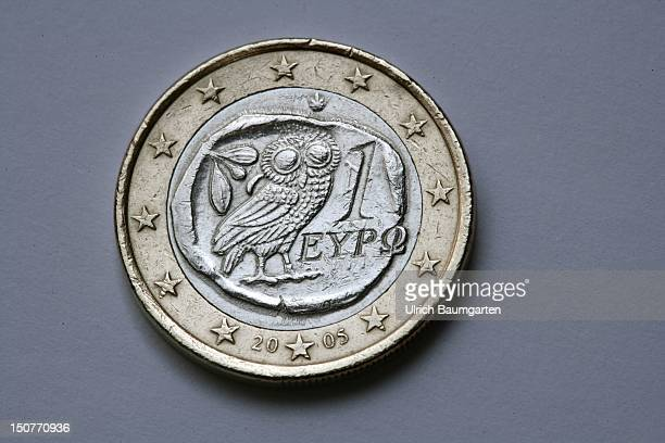 GERMANY BONN Greek 1 euro coin