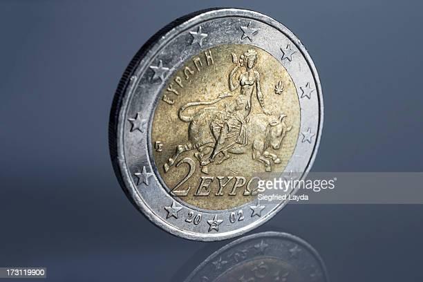 Greek 2 euro coin