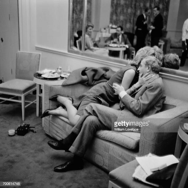 Greek actress and singer Melina Mercouri and her partner American film director Jules Dassin 16th November 1960