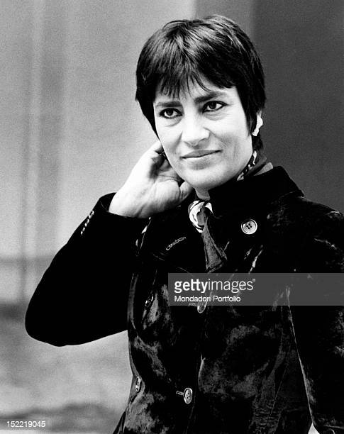 Greek actress Irene Papas acting in the film 'I'll Take Her Like a Father' Italy 1974