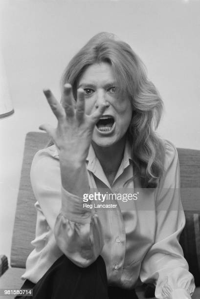 Greek actress Melina Mercouri pictured after hearing that she has been refused entry in to Greece by the Greek military regime, 7th April 1972.
