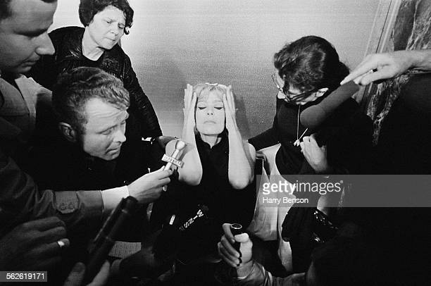 Greek actress singer and politician Melina Mercouri gives a press conference after her protest to the United Nations New York City 29th August 1967