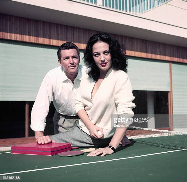 Greek actress Yvonne Sanson is shown here with American actor Steve Barclay