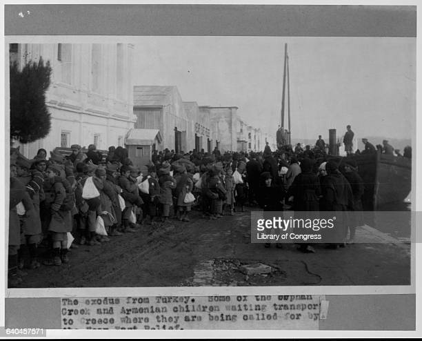 Greek and Armenian orphans wait to board ships to Greece During World War I the Ottomans sought to eliminate the Greek and Armenian populations in...