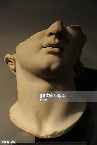 Greek art Asia Minor Colossal head of a youth Pergamon Marble 2nd BC Top terrace Gym The Antikensammlung Berlin