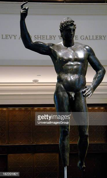 Greek Art Hellenistic Bronze male statue 2nd or 1st century BC Metropolitan Museum of Art New York United States