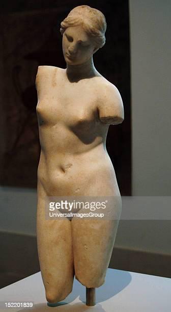 Greek Art Hellenistic Marble statue of Aphrodite Anadyomene 2nd century BC Metropolitan Museum of Art New York United States