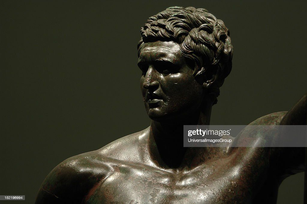 Hellenistic prince represented in heroic nudity : News Photo