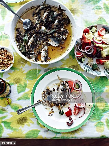 Greek baked sardines