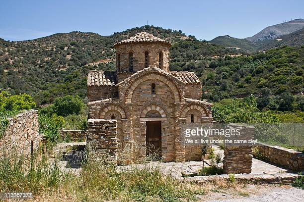 greek byzantine chapel - herakleion stock photos and pictures