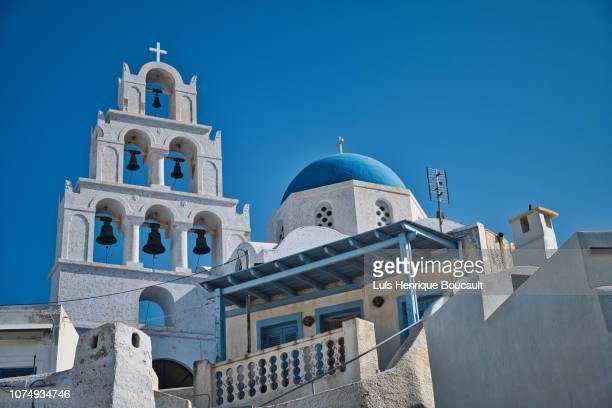 greek church & blue sky - igreja ortodoxa grega - fotografias e filmes do acervo