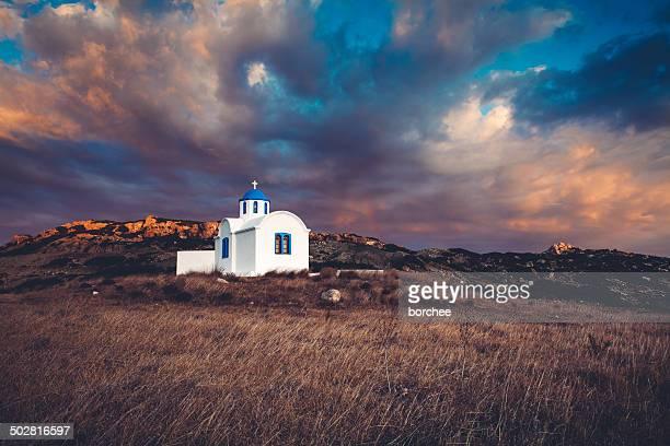 ギリシャの教会 - 礼拝堂 ストックフォトと画像