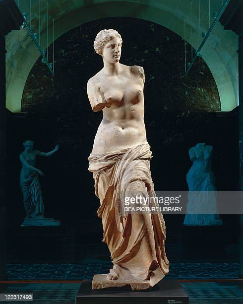 Greek civilization 2nd century bC Marble statue of Aphrodite of Milos known as 'Venus de Milo' circa 100 bC Height 202 cm From the Island of Milos...