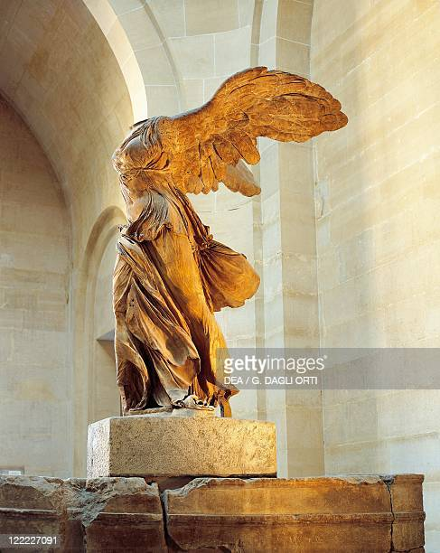 Greek civilization 2nd century bC Parian marble statue of winged Victory of Samothrace also called Nike of Samothrace circa 190 bC Height 328 cm