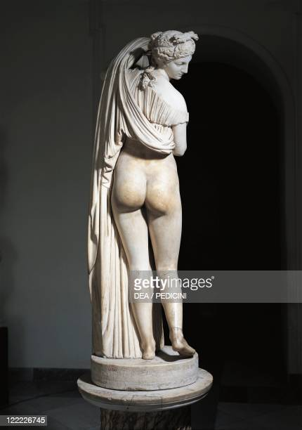 Greek civilization 3rd century bC Marble Aphrodite Kallipygos or Callipygian Venus statue Roman copy of a Hellenistic original