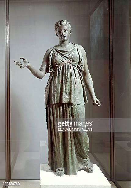 Greek civilization 4th century bC Bronze statue of Artemis known as the Piraeus Artemis