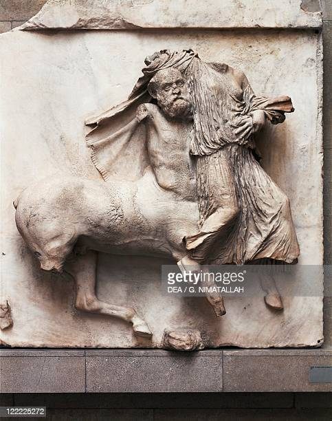 Greek civilization 5th century bC Centaur battling with a Lapith woman Detail from the metope of the Parthenon