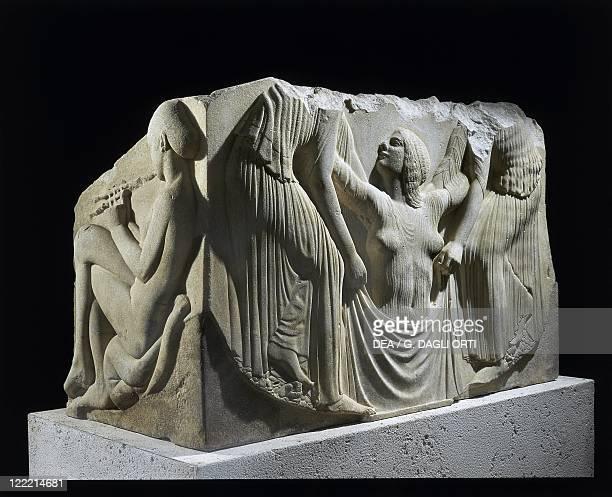 Greek civilization, 5th century b.C. Ludovisi Throne, Thasos marble.