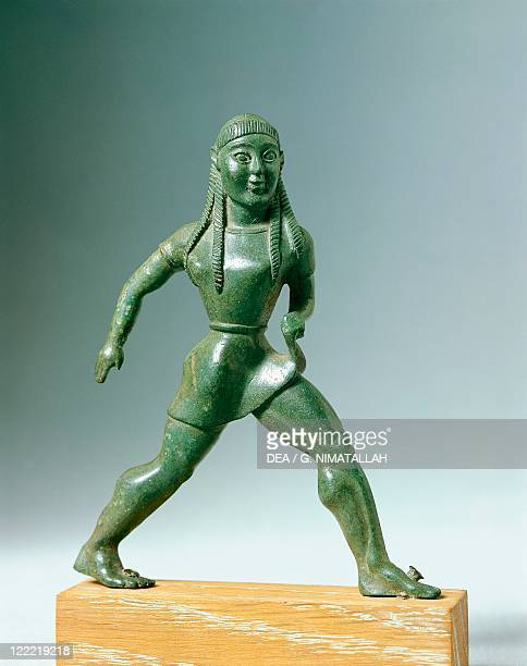 Greek civilization 6th century bC Bronze statue of a child running 525 bC From Dodona