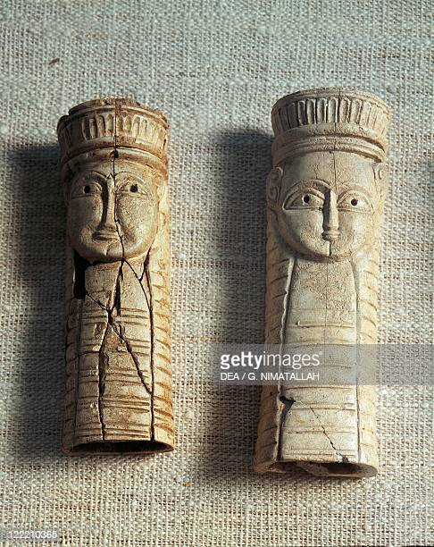 Greek civilization 7th century bC Figurines of idols from the Sanctuary of Artemis Orthia at Sparta Greece