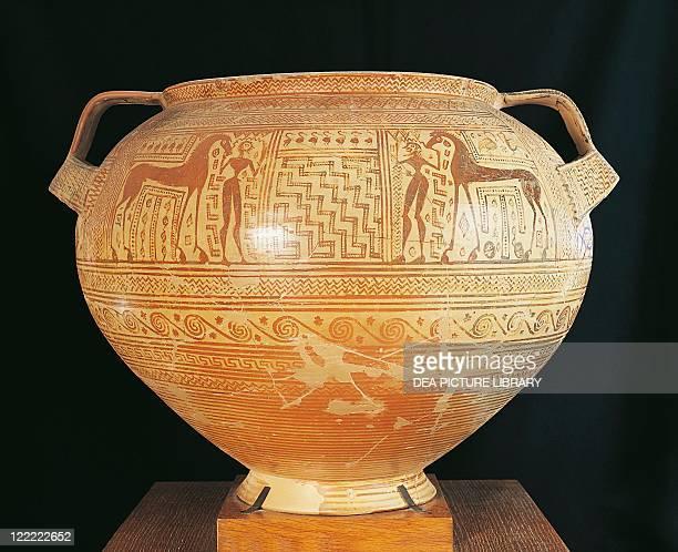 Greek civilization 8th century bC Geometric period krater diameter 50 cm