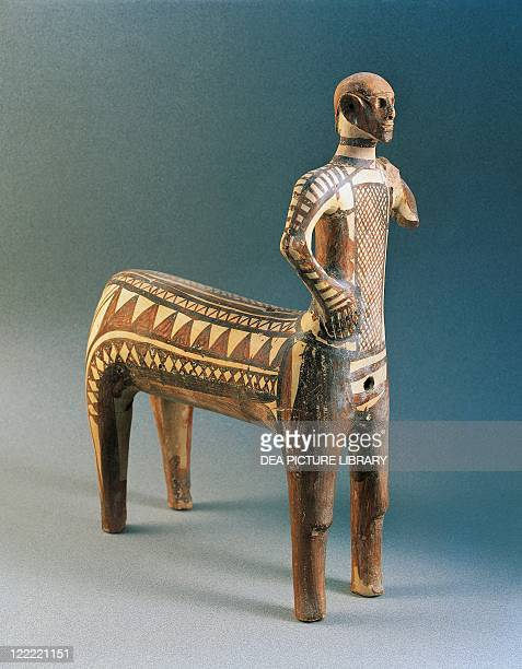 Greek civilization 8th century bC Painted terracotta Lefkandi Centaur from the necropolis of Toumba