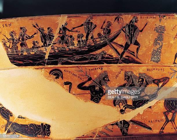 Greek civilization Blackfigure volutekrater Attic Francois vase signed by potter Ergotimos and painter Kleitias 570560 bC height 66 cm diameter 57 cm...