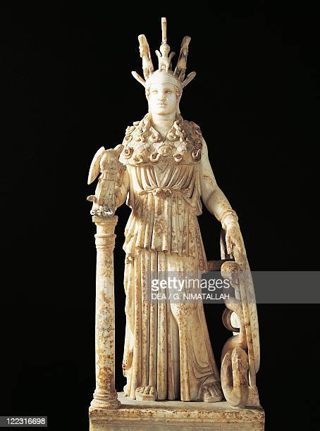 Greek civilization Statue of Athena Parthenos Roman copy of an original by Phidias of the 2nd century bC