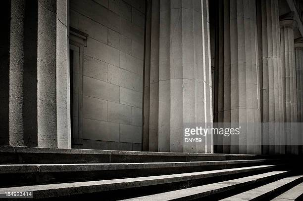 greek columns - column stock pictures, royalty-free photos & images