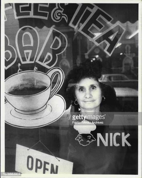 Greek Community In Melbourne 'Business Family'Antigone Charitopoulos who runs the Brunswick Restaurant and take away bar with her family July 20 1984