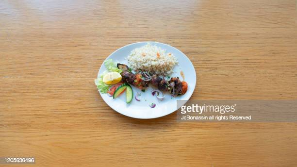 greek cuisine - jcbonassin stock pictures, royalty-free photos & images