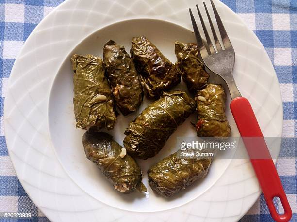 greek cuisine - dolmades stock pictures, royalty-free photos & images