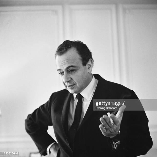 Greek Cypriot film-maker Michael Cacoyannis , UK, 1966.