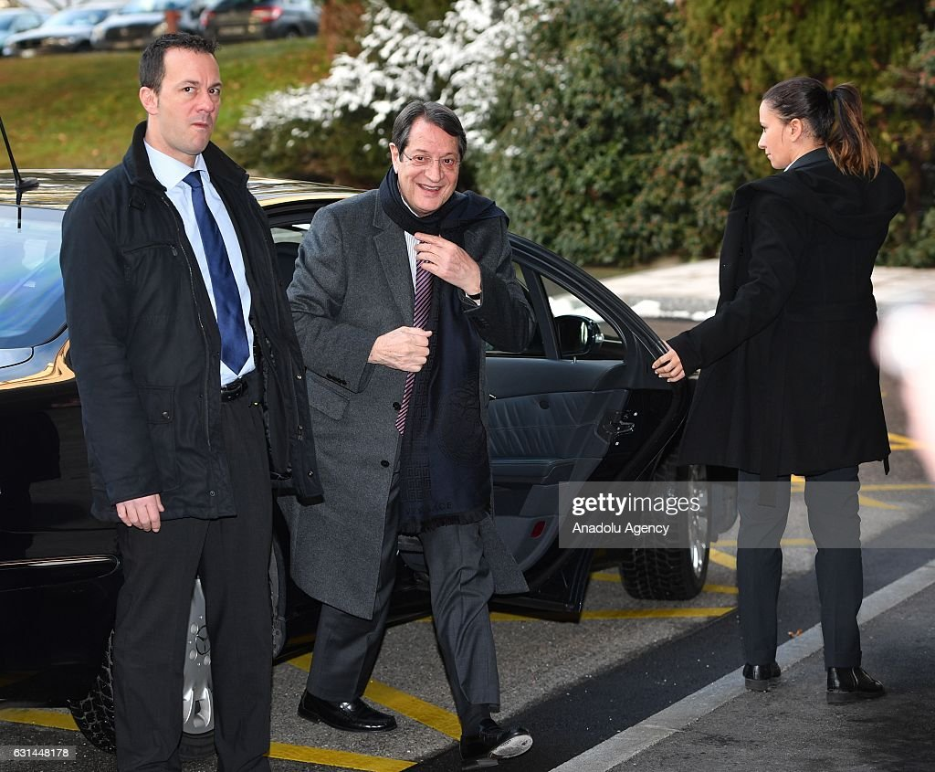 greek cypriot leader nicos anastasiades attends the cyprus talks at    news photo