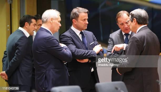 Greek Cypriot Leader Nikos Anastasiadis , Prime Minister of Luxembourg Xavier Bettel and Swedish Prime Minister Kjell Stefan Lofven attend Heads of...