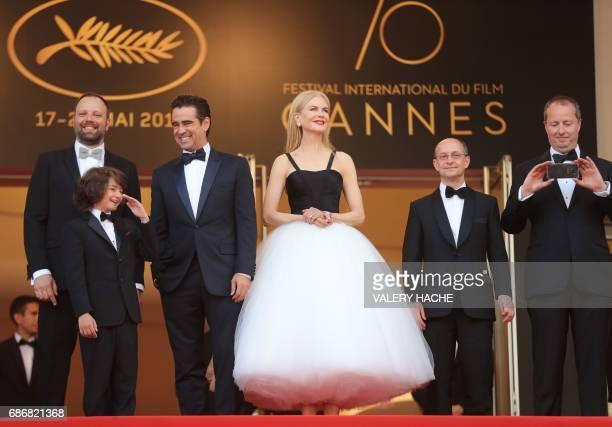 Greek director Yorgos Lanthimos US actor Sunny Suljic Irish actor Colin Farrell Australian actress Nicole Kidman Irish producer Ed Guiney and Irish...