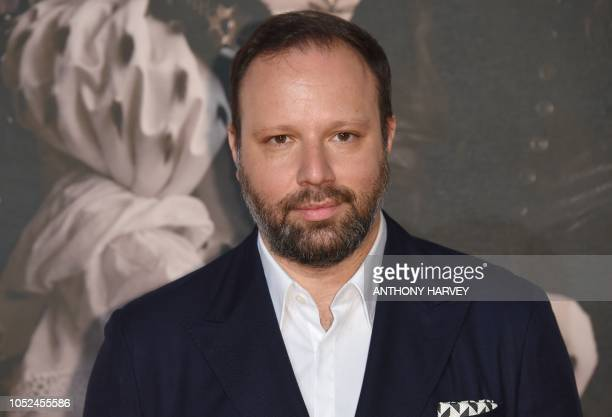 Greek film director Yorgos Lanthimos poses upon arrival for the UK premiere of the film 'The Favourite' during the BFI London Film Festival in London...