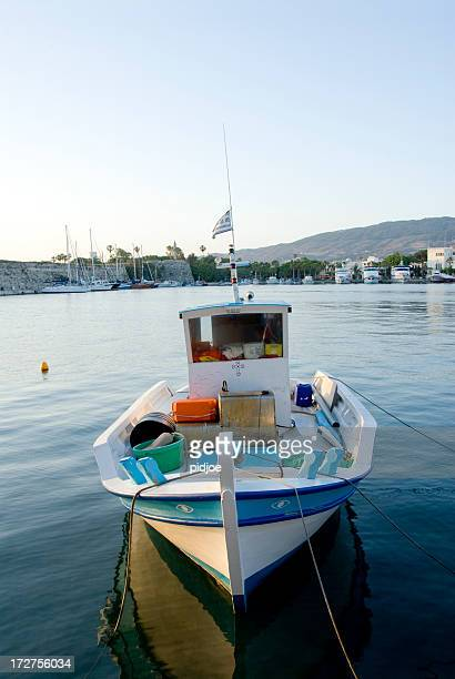 Greek fishing boat in harbor