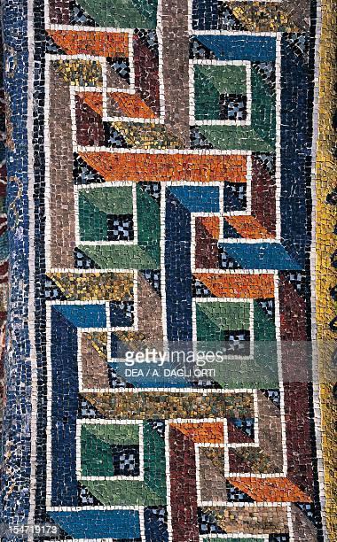 Greek frieze, mosaic arch, Mausoleum of Galla Placidia , Ravenna, Emilia-Romagna. Detail. Italy, 5th century.