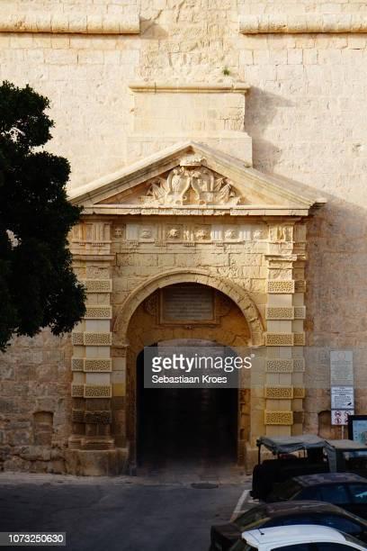 Greek Gate of Mdina at Dusk, Mdina, Malta