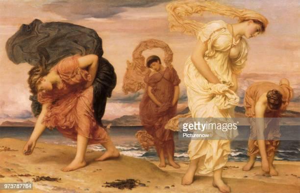 Greek Girls on Beach Leighton Frederic 1871