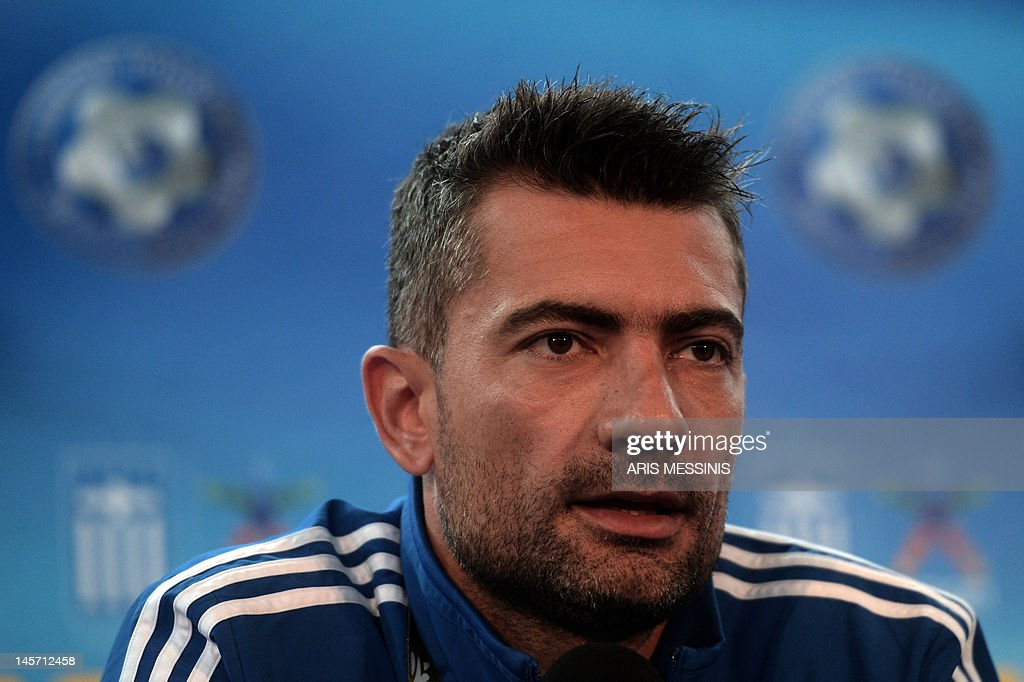 Greek goalkeeper Kostas Chalkias speaks  : News Photo
