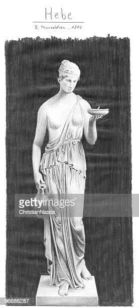 griechische göttin strauchveronika - griechische mythologie stock-fotos und bilder