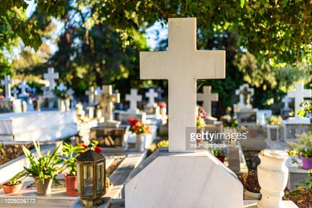 greek graveyard - religious symbol stock pictures, royalty-free photos & images