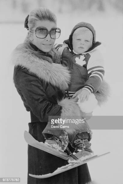 Greek heiress Tina Onassis Niarchos on a ski holiday in St Moritz, Switzerland, 29th January 1974.